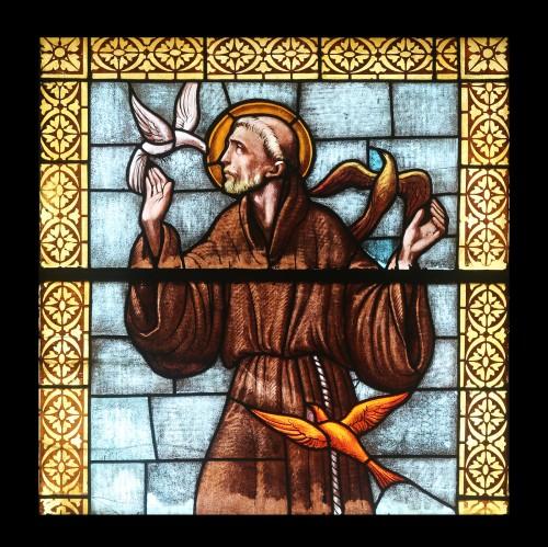 PORT AZZURRO, ELBA, ITALY - MAY 03: Saint Francis of Assisi, sta