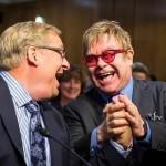 Feel the Love Tonight? Rick Warren, Elton John Hold Hands, Joke About Kissing Before AIDS Panel