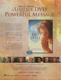 Be Still DVD Advertisement