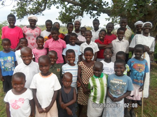 Bryce Home Group photos of Suna area.Widow Agnes was away,because she lost her brother's wife,so went for the burial#14 's two of her children went to vist their gramm