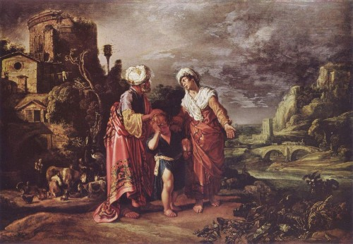 The dismissal of Hagar (Public Domain painting)