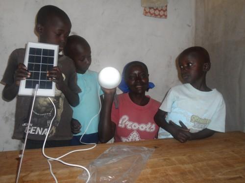 Alice,s Children are looking the ne small solar power.