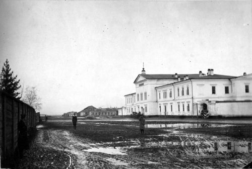 One of the prisons Georgi was in during his 8 years of imprisonment - Irkutsk Prison; Library of Congress; public domain