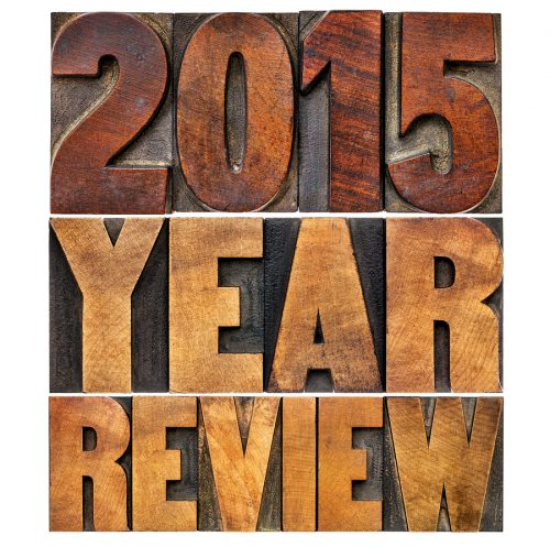 2015 review banner - annual review or summary of the recent year