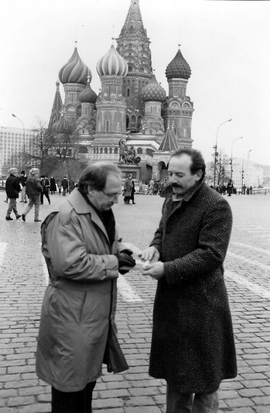 Praying in Red Square with Fred Lutsenko—December 1991. This was the day the Soviet Union Collapsed.