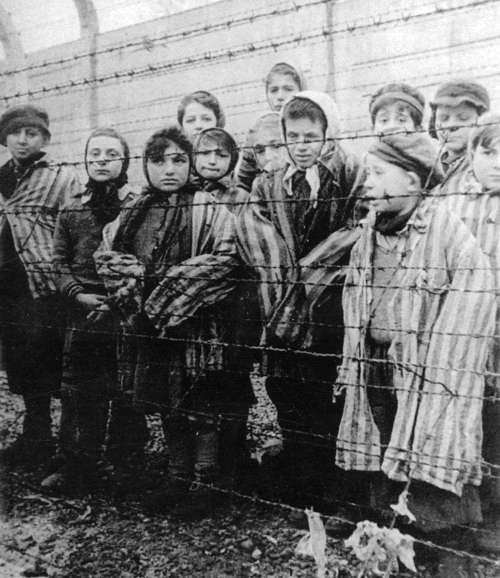 Child holocaust survivors: This work is in the public domain in the United States, because it was in the public domain in its home country (Russia) on the URAA date (January 1, 1996). (From Wikimedia)